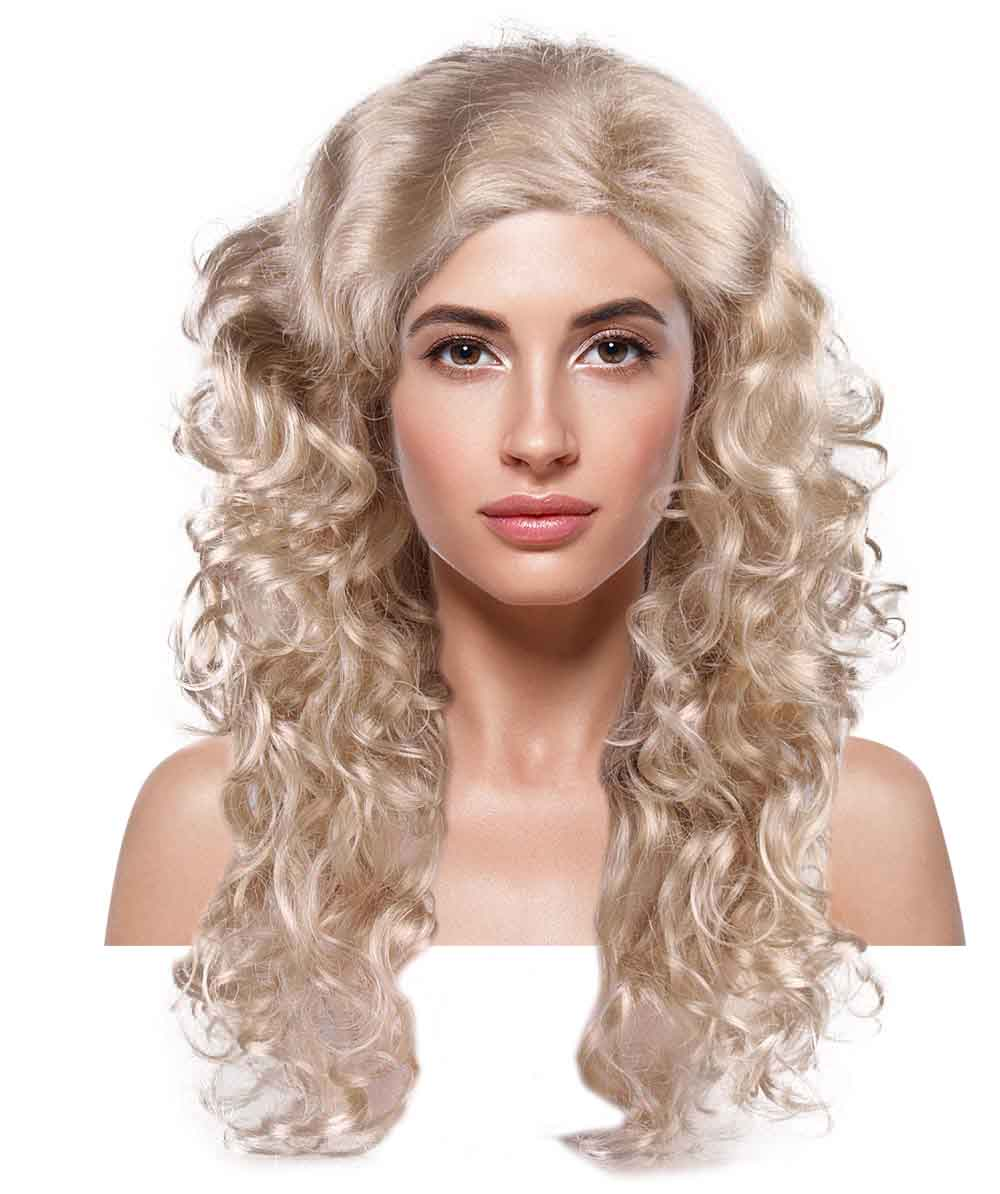 Blonde Passion Adult Womens Wig | Curly Glamour Cosplay Halloween Wig | Premium Breathable Capless Cap