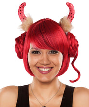 Red Devil Queen Wig | Party Ready Fancy Cosplay Halloween Wig
