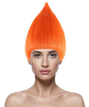 Women's Troll Wig | Cosplay Orange Troll Style Wig