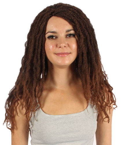 Deluxe Dreadlock Brown Wig | Character Cosplay Halloween Wig
