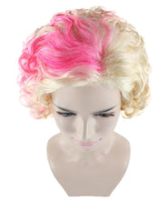 Flapper Girl Wig | Fancy Pink Blond Halloween Wig | Premium Breathable Capless Cap