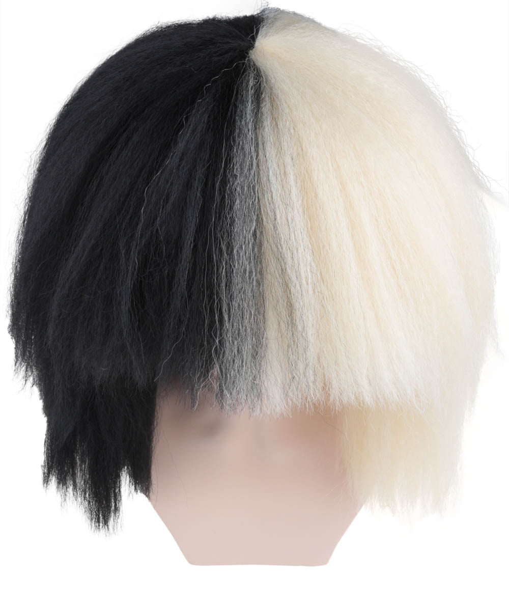 Australian Singer Black & Blonde Extra Large Wig | Pop Star Wig | Premium Breathable Capless Cap