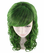 Long Green Wig | Stage Event party Ready Colorful Wig | Premium Breathable Capless Cap