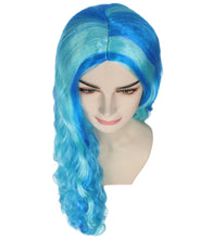 Monster High Ghoulia Yelps | Long Sky Blue Wavy Glamour Cosplay Halloween Wig | Premium Breathable Capless Cap