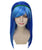 Cosplay Monster High Ghoulia Yelps | Neon Sky Blue Cosplay Halloween Wig | Premium Breathable Capless Cap