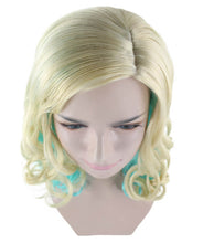 Monster High Lagoona Wig | Gold Sky Blue Cosplay Halloween Wig | Premium Breathable Capless Cap