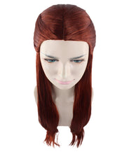 Lady Guinevere Wig | Long Brown Fancy Halloween Wig | Premium Breathable Capless Cap