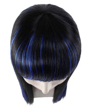 Glamour Witch Wig | Blue Black Sexy Cosplay Party Halloween Wig | Premium Breathable Capless Cap