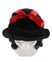 40s Pin Up Girl Black Wig  HW-2219 - HalloweenPartyOnline