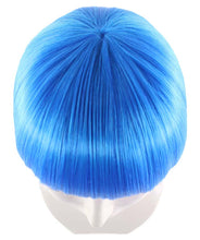 Blue Bob Wig | Short Cosplay Halloween Wig | Premium Breathable Capless Cap