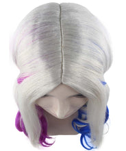 Harley Quinn Wig | White Pink Blue Ponitail Wig | Premium Breathable Capless Cap
