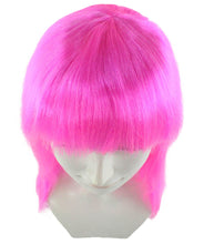 Classic Beauty Long Neon Pink Wig | Character Cosplay Halloween Wig