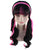 Monster High Draculaura Ponytails Curly Wig | Black & Pink TV/Movie Wigs | Premium Breathable Capless Cap