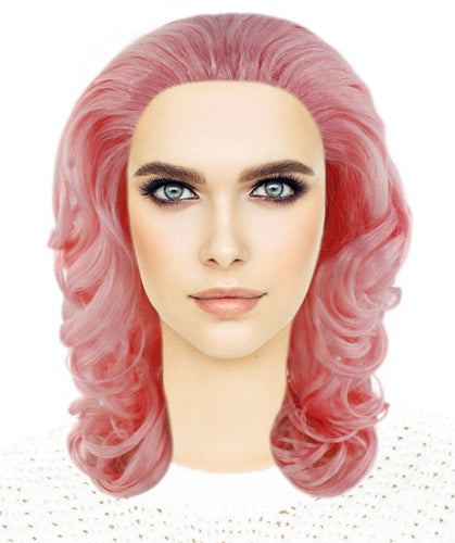 Pink Curly Wavy Wig | Pink Party Wigs