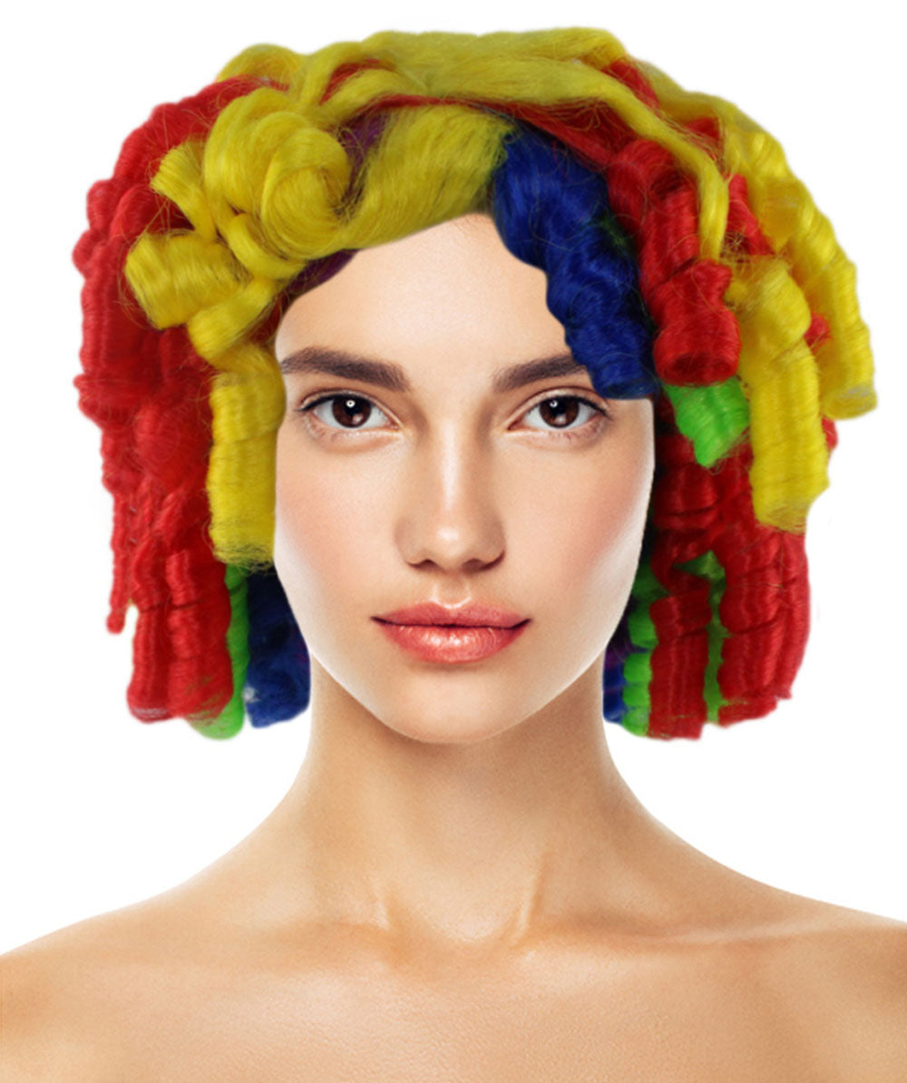 Colorful Cutie Pie Curly Clown Wig | Rainbow Clown Wigs