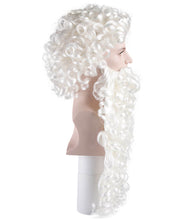 Super Long Santa Claus Wig and Beard Set | White Merry Christmas Santa Wig | Premium Breathable Capless Cap