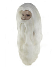 Super Long Santa Claus Wig and Beard Set | White Merry Christmas Santa Wig