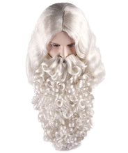 Mens Santa Claus Wig and Beard Set | White Christmas Wig