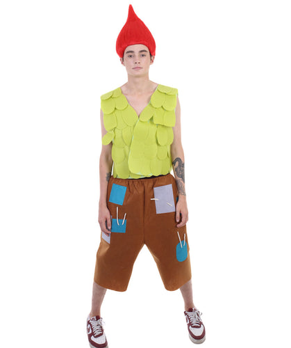 Men's Branch Costume | Yellow Orange Trolls Costumes
