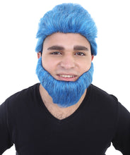 Beast Wig & Beard | Blue Cosplay Halloween Wig | Premium Breathable Capless Cap