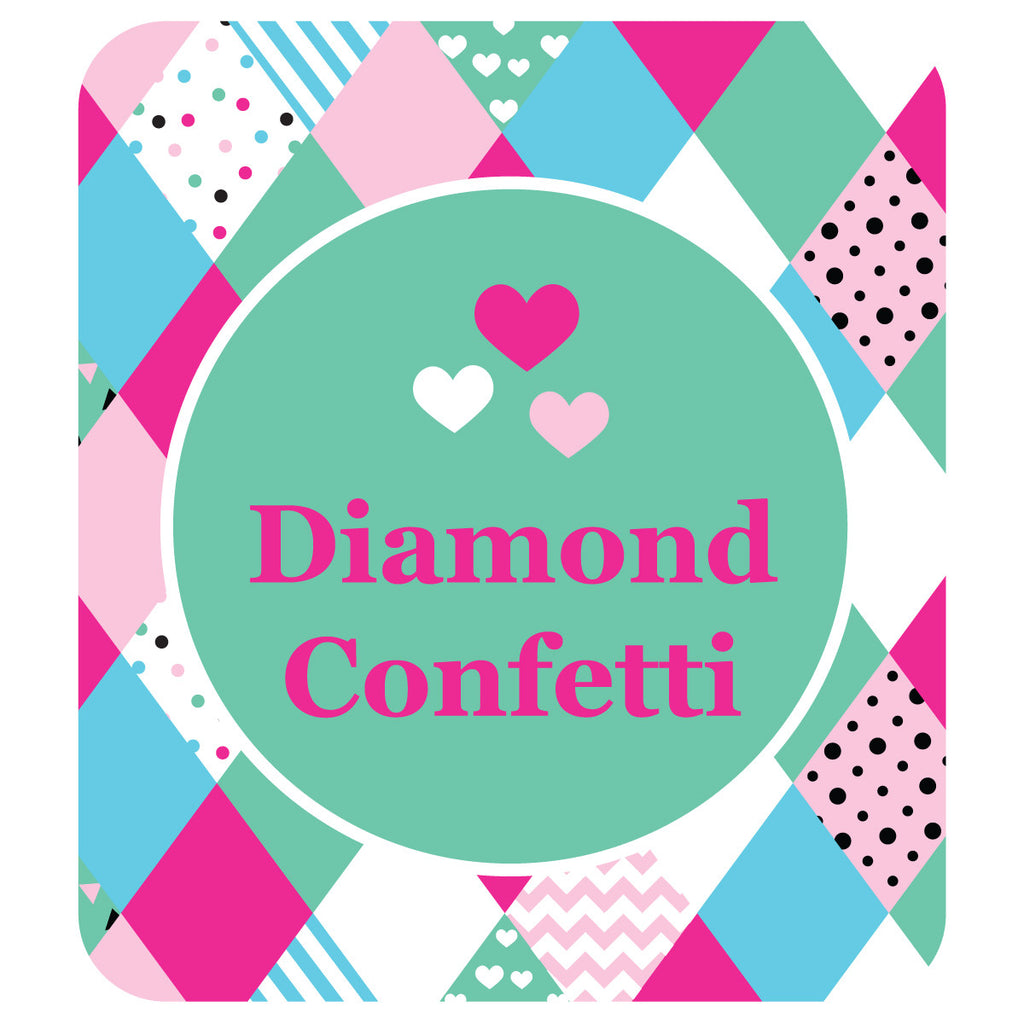 Diamond Confetti Shoe Labels - 30 Labels - Lil Sunshine Collections