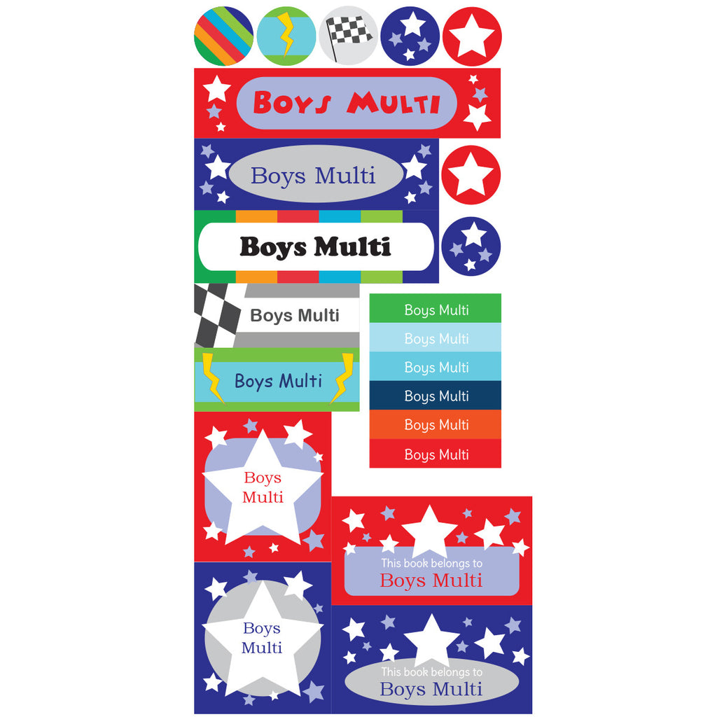 Boys Multi Mighty Bundle - 312 Labels - Lil Sunshine Collections