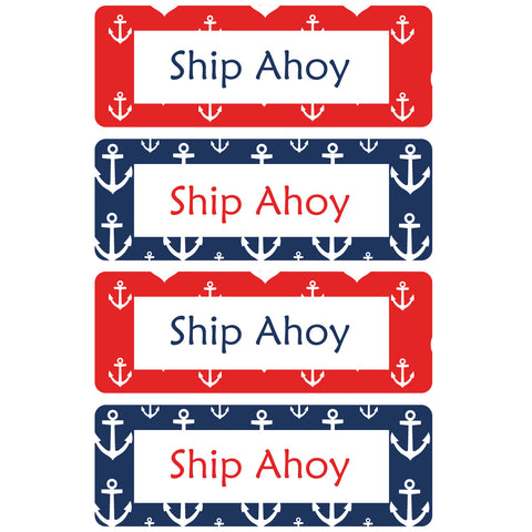 Ship Ahoy Essentials Labels - 92 Labels - Lil Sunshine Collections