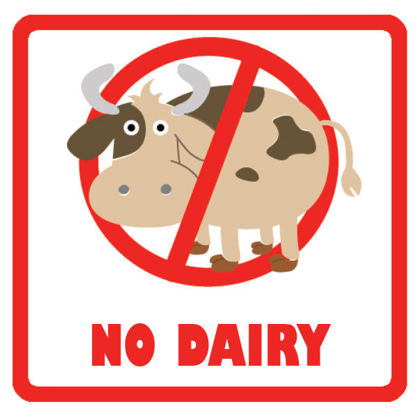 Allergy Labels - No Dairy