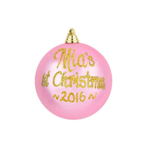 1st Christmas Personalised Bauble