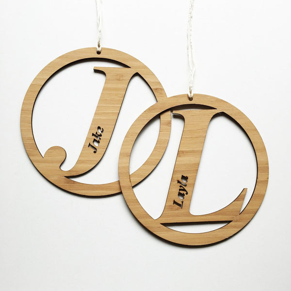 Italic Initial Personalised Wall Hanging - Lil Sunshine Collections