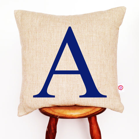A-Z Initial Cushion Cover (Various Colours) - Lil Sunshine Collections