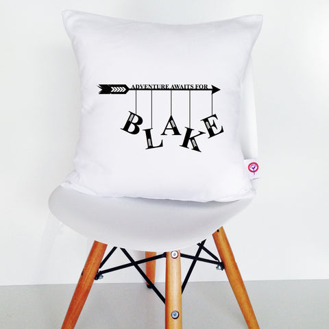 Adventure Awaits Personalised Cushion Cover - Lil Sunshine Collections
