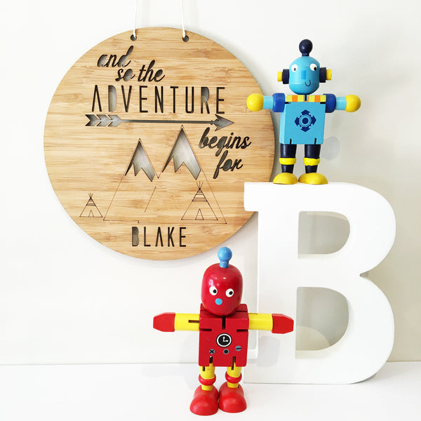 Adventure Begins Personalised Wall Hanging - Lil Sunshine Collections