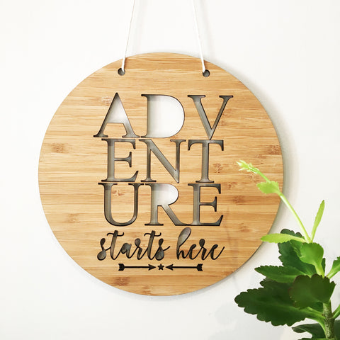 Adventure Starts Here Wall Hanging - Lil Sunshine Collections
