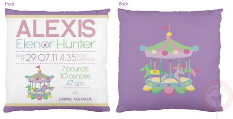 Alexis Personalised Birth Chart Cushion - Lil Sunshine Collections
