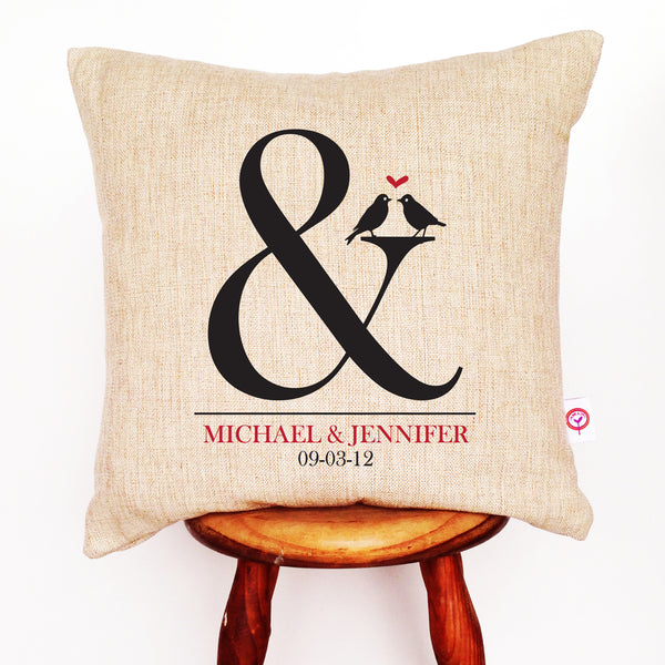 Ampersand Personalised Cushion Cover - Lil Sunshine Collections