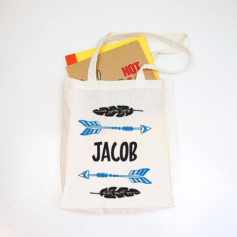 Arrow Personalised Library Tote Bag - Lil Sunshine Collections