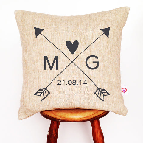 Arrows Love Personalised Cushion Cover - Lil Sunshine Collections
