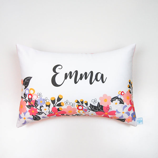 Floral Wonderland Girls Personalised Cushion - Lil Sunshine Collections