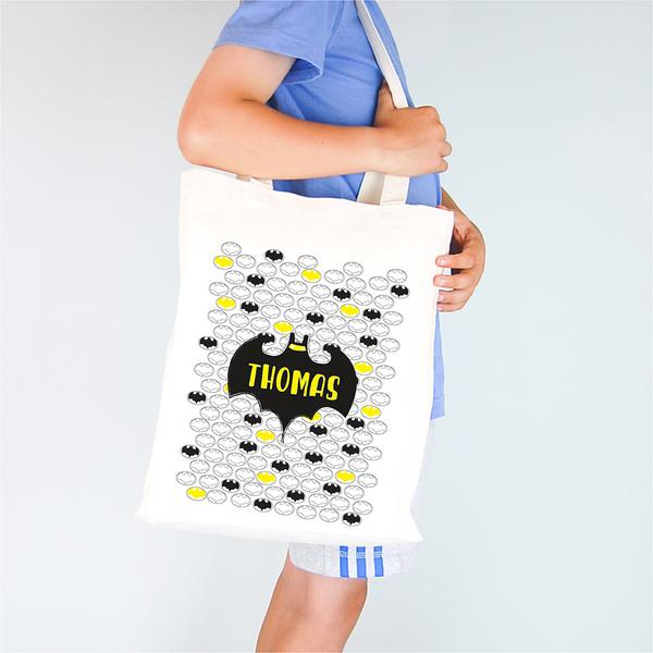 Bat Personalised Library Tote Bag - Lil Sunshine Collections
