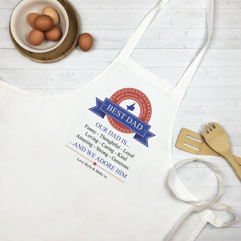 Our Dad Is Personalised Apron - Lil Sunshine Collections