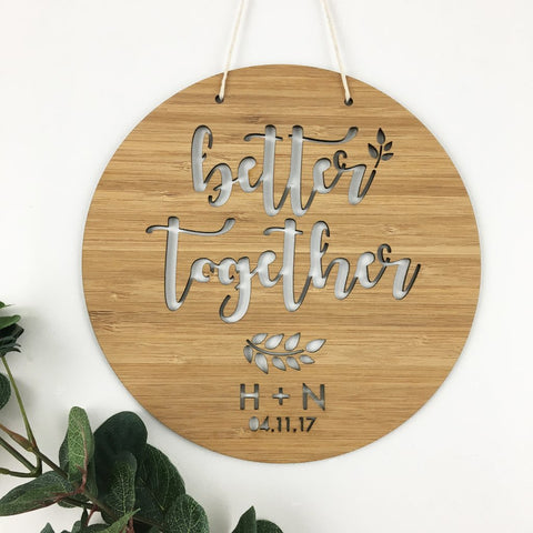 Better Together Personalised Wall Hanging - Lil Sunshine Collections