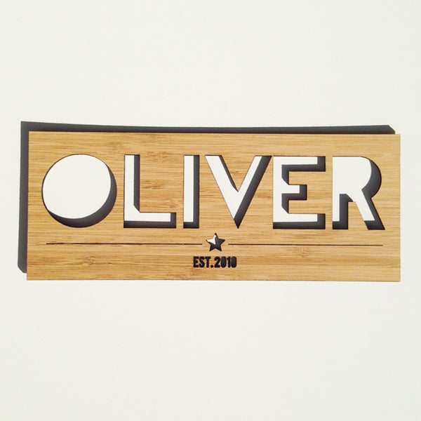 Personalised Name Plaque - Boys - Lil Sunshine Collections