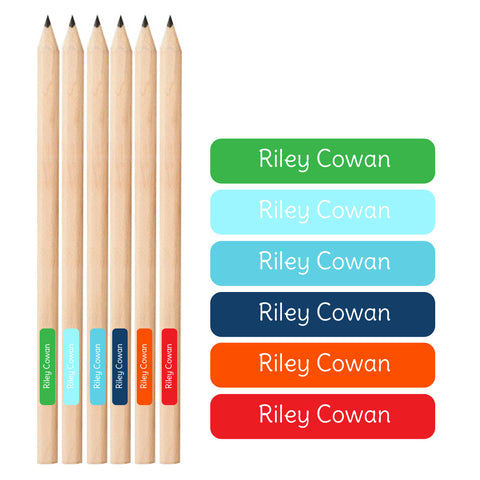 Boys Pencil Labels - 66 Labels