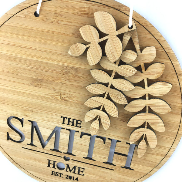 Personalised Branches Home Wall Hanging - Lil Sunshine Collections
