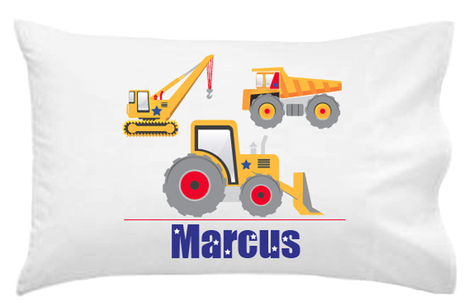 Construction Personalised Pillowcase