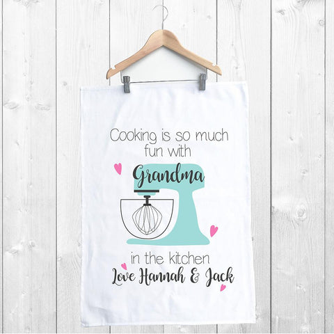 Cooking is so much Fun Personalised Tea Towel - Lil Sunshine Collections