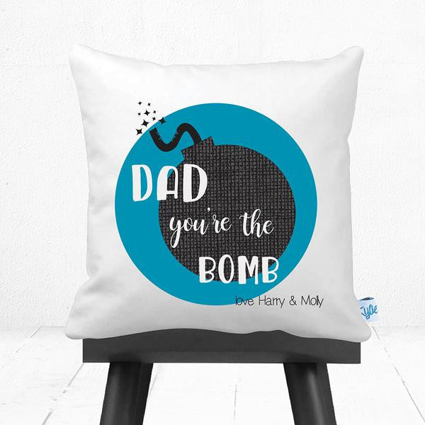 You're The Bomb Father's Day Personalised Cushion - Lil Sunshine Collections