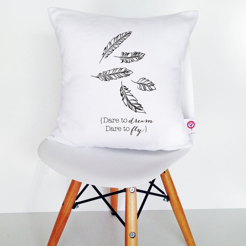 Dare To Dream Dare To Fly Cushion Cover - Lil Sunshine Collections