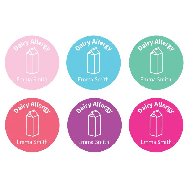 Allergy Labels - Dairy – Confetti - Lil Sunshine Collections